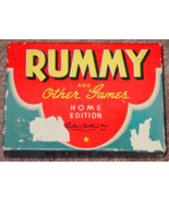 RUMMY & OTHER GAMES HOME EDITION 1942 PARKER BROTHERS COMPLETE EXCELLENT - $20.00