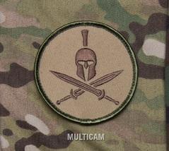 SPARTAN MULTICAM TACTICAL COMBAT BLACK OPS BADGE MORALE VELCRO MILITARY ... - $8.99