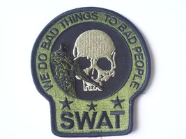 SWAT SNIPER DEATH SKULL PATCH (OD GREEN) - $10.99