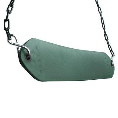 Extra duty swing seat with chain green swings slides gyms for Extra wide swing seat