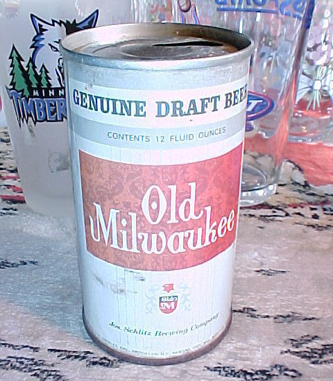 Old milwaukee beer can