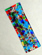 Murano Glass Handmade Mezuzah Case for 9 cm Scroll Multicolor Murrina Italy