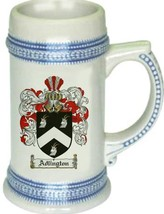 Adlington Coat of Arms Stein / Family Crest Tankard Mug - $21.99