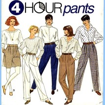 146 Womens Pants & Shorts size 6 8 10, 4 Hour Sewing Pattern, Uncut Simp... - $5.95