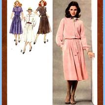 363 Womens Dress w Pleated Skirt size 10 Vintage 70's Sewing Pattern, Uncut - $5.95