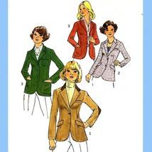 186 Womens Princess Seamed Blazers size 12 Vintage 70's Sewing Pattern, Uncut - $5.95