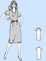 905 Womens Slim Pullover Dress sz 8 10 12 Vintage 80's Sewing Pattern Uncut - $5.75