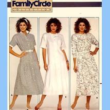 189 Womens Dropped Waist Dress sz 12 Vintage 80's Family Circle Pattern Uncut - $5.95
