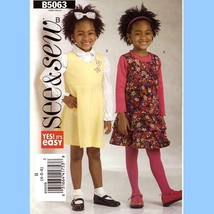 680-1 GIRLS DRESS, JUMPER, FLOUNCES, PLEATS, CHILDS sz 4 5 6 SEW PATTERN... - $5.95