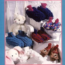 Slipper Socks For Kids, 8 Styles, Crochet Patterns, Childs size XS S M L - $4.95