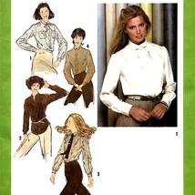 120 Long Sleeve Blouse Shirt Top Shirttail Hem sz 12 Vintage 70's Pattern Uncut - $5.95