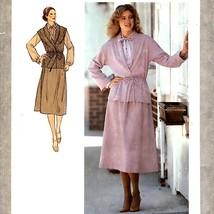 188 Womens Skirt Blouse Jacket Vest sz 12 Vintage 70's Sewing Pattern Uncut - $5.95