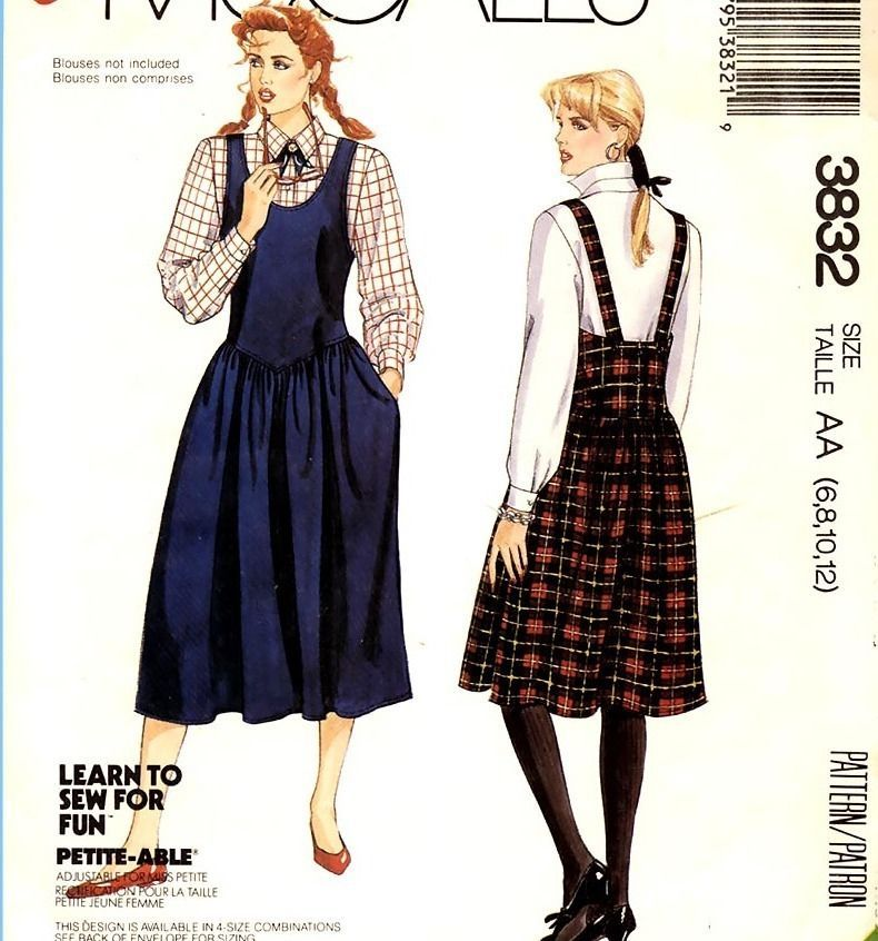 Primary image for 156 WOMENS JUMPER W SHAPED WAIST, 2 LENGTHS sz 6 8 10 12, VINTAGE PATTERN UNCUT