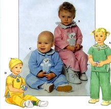 503 BABY BOY & GIRL TOP PANTS HAT NB S M L up to 24 lb SEWING PATTERN, U... - $5.95