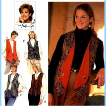 151 Kathie Lee Vest Patterns, 3 Reversible Styles sizes 6 8 10, Uncut - $5.95