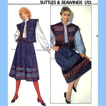 191 Womens Reversible Wrap Skirt & Vest sz 12 Vintage Suttles & Seawinds... - $5.95
