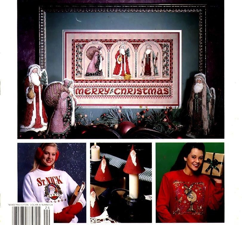 Celebrations, A Leisure Arts Magazine for Cross Stitch & Crafts Christmas 1992 - $4.95