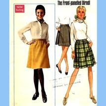 "809 WOMENS FRONT-PANELED DIRNDL SKIRT, 27"" WAIST, VINTAGE SEWING PATTERN - $5.95"