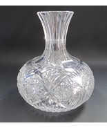 American Brilliant Period Cut Glass water  carafe / vase  Antique Water ... - $92.22