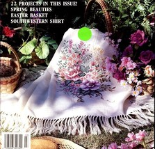 For The Love Of Cross Stitch March 1991  22 Projects, Garden Basket, Cat... - $3.95