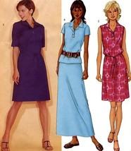 102 Womens Pullover A-line Dress Top Skirt 12 14 16 Easy Pattern Uncut B... - $8.95