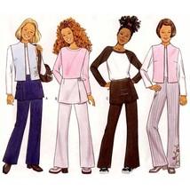 801 Girls Vest, Pants, Wrap Overskirt sz 7 8 10 Very Easy Sewing Pattern... - $5.75