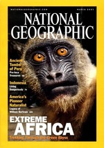 National Geographic March 2001, Ancient Tombs in Peru, Pre-Inca Treasures - $3.95