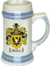 Brouwer Coat of Arms Stein / Family Crest Tankard Mug - $21.99