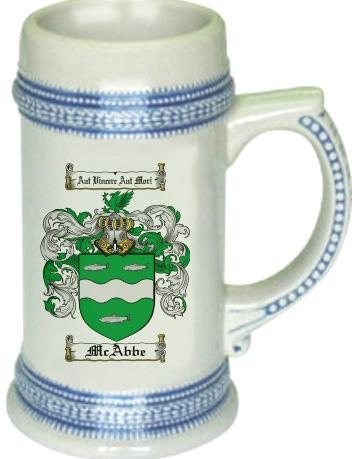 Mcabbe Coat of Arms Stein / Family Crest Tankard Mug