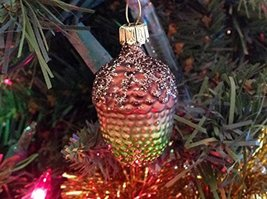Smalll Green and Brown Acorn Hand Painted Glass Ornament [Kitchen]