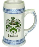 Carlson Coat of Arms Stein / Family Crest Tankard Mug - $21.99
