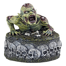 Gruesome Zombie The Walking Undead Climbing on Skull Ringed Treasure Box - £26.12 GBP