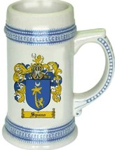 Spano Coat of Arms Stein / Family Crest Tankard Mug - $21.99
