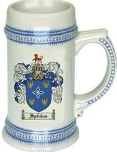 Spinkes Coat of Arms Stein / Family Crest Tankard Mug - $21.99