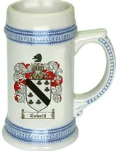 Coterill Coat of Arms Stein / Family Crest Tankard Mug - $21.99