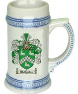 Wetherbee Coat of Arms Stein / Family Crest Tankard Mug - $21.99