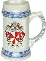 Giralt Coat of Arms Stein / Family Crest Tankard Mug - $21.99