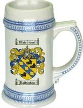Halburton Coat of Arms Stein / Family Crest Tankard Mug - $21.99