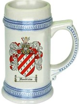 Hendricks Coat of Arms Stein / Family Crest Tankard Mug - $21.99