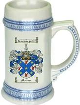 Malcom Coat of Arms Stein / Family Crest Tankard Mug - $21.99