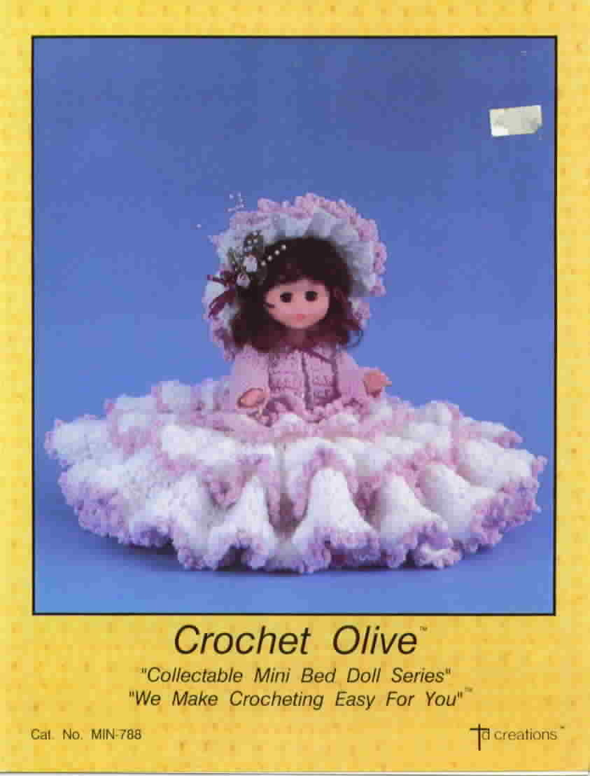 TD Creations Crochet Olive Mini Bed Doll