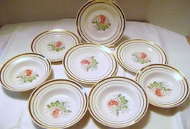 Vintage Salem China 23 Karet Gold  Mount Vernon Pattern  Berry Bowls & D... - $14.00