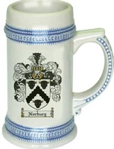 Norbury Coat of Arms Stein / Family Crest Tankard Mug - $21.99