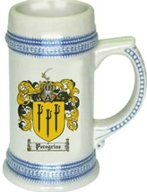 Peregrine Coat of Arms Stein / Family Crest Tankard Mug - $21.99
