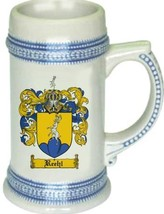Reehl Coat of Arms Stein / Family Crest Tankard Mug - $21.99
