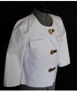 Michael Kors Top Blouse XS Cotton Spandex White Bust 32 Inch Unique Fast... - $38.50