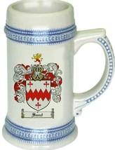 Sand Coat of Arms Stein / Family Crest Tankard Mug - $21.99