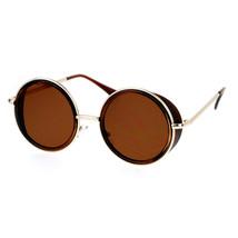 Side Cover Sunglasses Round Circle Double Frame Unisex Fashion Shades - $11.95