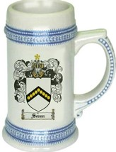 Seven Coat of Arms Stein / Family Crest Tankard Mug - $21.99