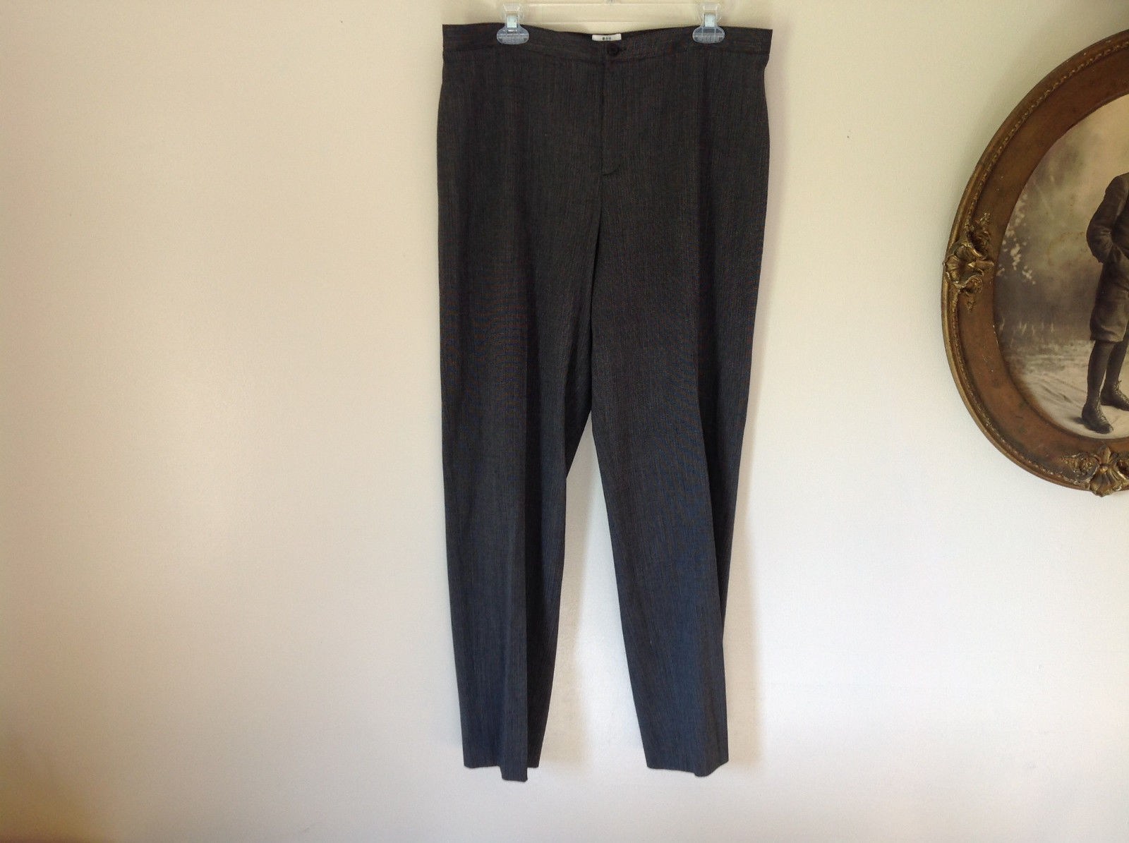 APT 9 Stretch Gray Business Formal Casual Dress Pants No Pockets Size 16
